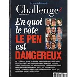 CHALLENGES n°520 04/05/2017  En quoi le vote Le Pen est dangereux/ Easy Jet/ SFR/ Disney