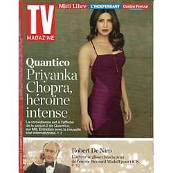 TV MAGAZINE N°22672 02/07/2017  PRIYANKA CHOPRA/ ROBERT DE NIRO/ NCIS NEW ORLEANS
