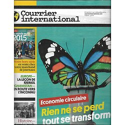 COURRIER INTERNATIONAL n°1258 11/12/2014  ECONOMIE CIRCULAIRE/ SAND CREEK/ AFGHANISTAN/ FOOT MARKETING