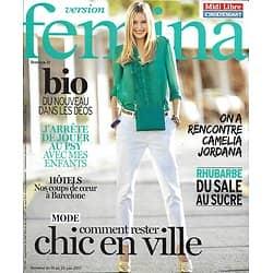VERSION FEMINA N°794 19/06/2017 CHIC EN VILLE/ CAMELIA JORDANA/ BARCELONE/ RHUBARBE/ DEOS BIO