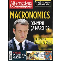 ALTERNATIVES ECONOMIQUES n°370 juillet-août 2017  LES 20 MESURES DE MACRON/ MOTS DE L'ECONOMIE/ MUTUELLES/ PORTUGAL