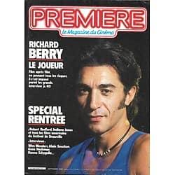 PREMIERE n°90 septembre 1984  RICHARD BERRY/ H.FORD/ SOUCHON/ HACKMAN