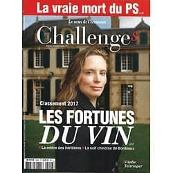 CHALLENGES n°526 15/06/2017  Les fortunes du vin/ Vraie mort du PS/ Salon du Bourget