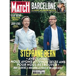 PARIS MATCH n°3562 24/08/2017  STEPHANE BERN/ BARCELONE/ JERRY LEWIS/ VARTAN/ 70'S/ SHARAPOVA