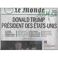 LE MONDE N°22340 10/11/2016  TRUMP PRESIDENT DES ETATS-UNIS EDITION SPECIALE