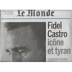LE MONDE n°22355 27/11/2016  Fidel Castro, icône et tyran/ Primaire de la droite/ Israël-Palestine/ Londres