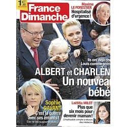 FRANCE DIMANCHE n°3684 07/04/2017  ALBERT&CHARLENE/ DAVANT/ MILOT/ LE FORESTIER/ MISS FRANCE