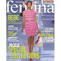 VERSION FEMINA n°512 23/01/2012  Spécial Collections/ José Garcia/ Recettes au Caramel