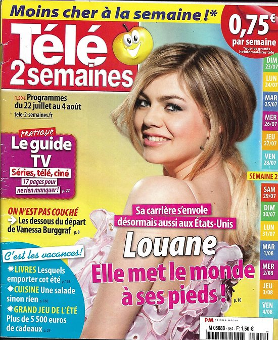 TELE 2 SEMAINES n°354 22/07/2017  LOUANE EMERA/ EMMANUEL MACRON/ BOLT/ VALERIAN/ SHEILA