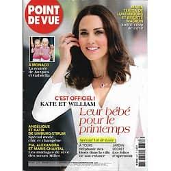 POINT DE VUE n°3607 06/09/2017  Kate & William/ Monaco/ Brigitte Macron/ Spécial Val de Loire