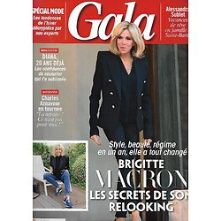 GALA n°1264 30/08/2017  Brigitte Macron/ Diana, 20 ans déjà/ Charles Aznavour/ Spécial Mode/ Alessandra Sublet