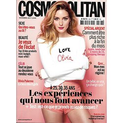 COSMOPOLITAN (POCKET) n°528 novembre 2017  Olivia Palermo/ Expériences positives/ Heidi Klum/ Spécial argent