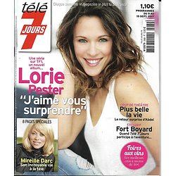 TELE 7 JOURS n°2989 09/09/2017  Lorie Pester/ Mireille Darc/ Belmondo/ Farrugia/ Testot