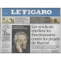 LE FIGARO n°22757 10/10/2017  Jean Rochefort/ MoMa à Paris/ Fonctionnaires contre Macron