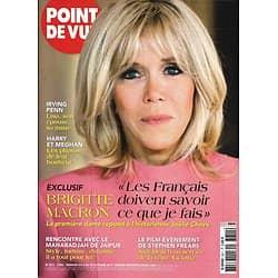 POINT DE VUE n°3611 04/10/2017  Brigitte Macron/ Harry & Meghan/ Irving Penn/ Judi Dench/ Kate Winslet