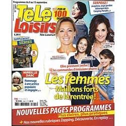 TELE LOISIRS n°1645 09/09/2017  Femmes de la rentrée/ M.Darc/ Spécial séries/ Koh-Lanta