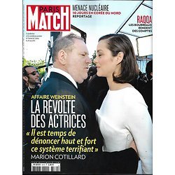 PARIS MATCH n°3570 19/10/2017  Affaire Weinstein/ Menace nucléaire/ Raqqa/ Océan/ Tatiana Silva