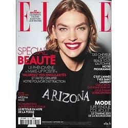 ELLE n°3742 08/09/2017  Arizona Muse/ Spécial beauté/ Bruni, Deneuve, Slimani racontent YSL
