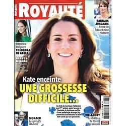 ROYAUTE n°4 novembre 2017  Kate Middleton enceinte/ Rania de Jordanie/ Projets d'Albert de Monaco/ Théodora de Grèce