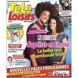 TELE LOISIRS n°1647 23/09/2017  Plus belle la vie/ Pesquet/ Irma/ Grace de Monaco/ G.Canet/ Sommeil