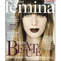 VERSION FEMINA n°811 16/10/2017  Spécial beauté/ Balasko & M.Berry/ Goscinny