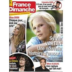 FRANCE DIMANCHE n°3694 16/06/2017  Vartan/ Dion/ Birkin/ Aliagas/ Cuxi/ Dechavanne