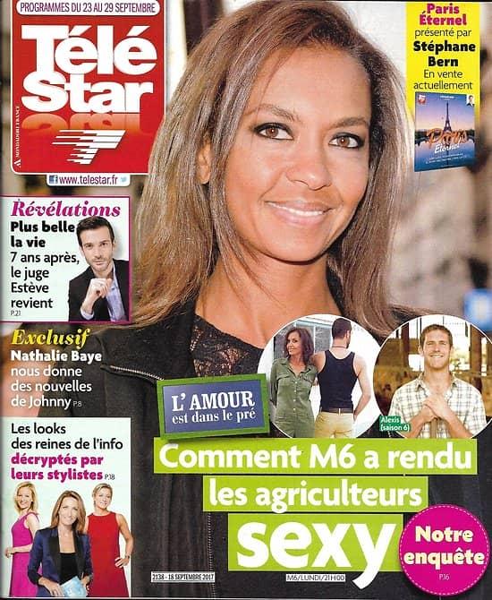 TELE STAR n°2138 23/09/2017  L'amour est dans le pré-Le Marchand/ Pesquet/ Plus  belle la vie/ E.Denis