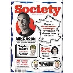 SOCIETY N°69 novembre 2017  Mike Horn/ T.Swift/ Réchauffement climatique/ Soros/ Garrido