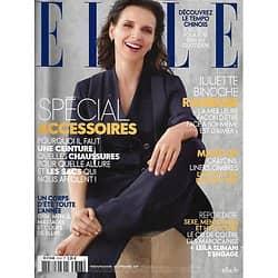 ELLE n°3743 15/09/2017  Juliette Binoche/ Spécial accessoires/ APC/ Macron/ Colère des Marocaines/ Make-up