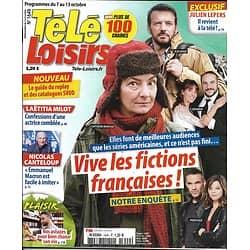 TELE LOISIRS n°1649 07/10/2017  Fictions françaises/ Canteloup/ Lepers/ Mata Hari/ Milot/ A.Christie