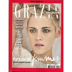 GRAZIA n°1H 12/2017  Femmes de 2017: Stewart, Brown, Casta, Louane, L.Hallyday, Del Rey, Adjani, Kruger