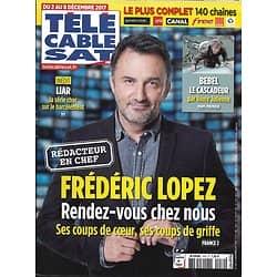 """Télé Cable Sat n°1439 02/12/2017  Frédéric Lopez/ Belmondo/ """"Liar""""/ Beineix"""