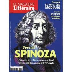LE MAGAZINE LITTERAIRE n°585 nov.décembre 2017  Dossier Spinoza/ Modiano/ Inceste/ Harari/ Montaigne/ DeLillo