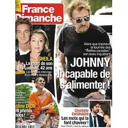 FRANCE DIMANCHE n°3698 14/07/2017  Johnny Hallyday/ Céline Dion/ Sheila/ C.Casiraghi/ P.Anderson/ V.Paradis