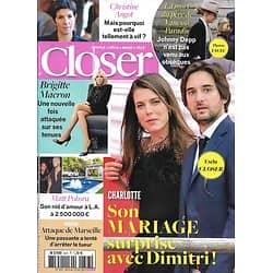 CLOSER n°643 06/10/2017  Charlotte Casiraghi/ Brigitte Macron/ C.Angot/ Pokora/ V.Paradis