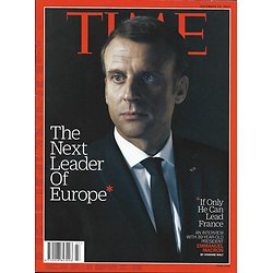 TIME VOL.190 n°21 20/11/2017  Macron, next leader of Europe/ The Texas massacre/ Life after addiction/ Branagh-Poirot
