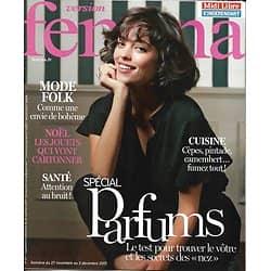 VERSION FEMINA n°817 27/11/2017  Spécial parfums/ Mode folk/ Baye & L.Smet/ Cuisine: le fumé