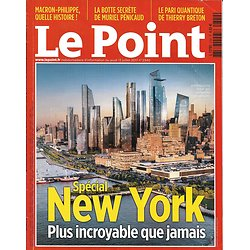 LE POINT n°2340 13/07/2017  Spécial New York: urbanisme, économie, innovation, culture