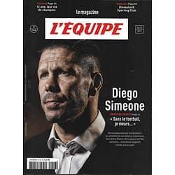L'EQUIPE MAGAZINE n°1848 16/12/2017  Diego Simeone/ Jeunes prodiges/ Genesio/ Disneyland Paris