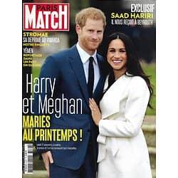 PARIS MATCH n°3576 30/11/2017  Harry & Meghan/ Stromae/ Yémen, pays en guerre/ Coupe Davis/ Saad Hariri/ Kendall Jenner
