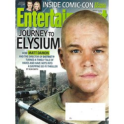ENTERTAINMENT WEEKLY n°1270 02/08/2013  Elysium-Matt Damon/ Inside Comic-Con and tv stars/ Madonna