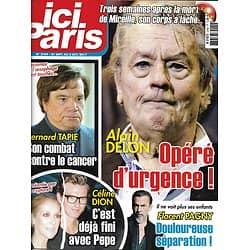 ICI PARIS n°3769 27/09/2017  Alain Delon/ Bernard Tapie/ Céline Dion/ Florent Pagny