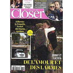 CLOSER n°650 24/11/2017  Johnny & Laeticia Hallyday/ Flavie Flament/ Céline Dion/ Olivia Wilde