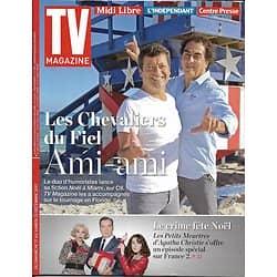 TV MAGAZINE n°22814 17/12/2017  Chevaliers du fiel/ Petits meurtres d'Agatha Christie/ Hommage à Hallyday/ Julien Doré