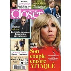 CLOSER n°651 02/12/2017 Brigitte Macron/ Johnny Hallyday/ Meghan&Harry/ Paris Jackson/ C.Capéo