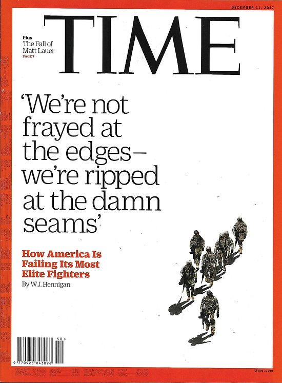 TIME VOL.190 n°24 11/12/2017  The new American way of war/ Climate change in the Alps/ Suffering in Yemen