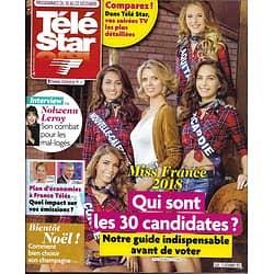 TELE STAR n°2150 16/12/2017  Les Miss France/ Nolwenn Leroy/ Julien Doré/ C.Gainsbourg/ A.Delva/ Vizorek