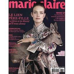 MARIE CLAIRE n°785 janvier 2018  Natalia Vodianova/ Mustangs/ Lien père-fille/ Pilule/ Poésie partout!/ Mode conte d'hiver