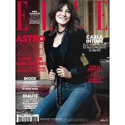 ELLE n°3758 29/12/2017  Carla Bruni/ Vive la drague!/ Astro 2018/ Elise Lucet/ Beigbeder/ Rabhi/ Saoudiennes