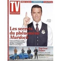 """TV MAGAZINE n°22826 31/12/2017  """"Les enquêtes de Murdoch""""- Y.Buisson/ """"Top Gear France"""""""